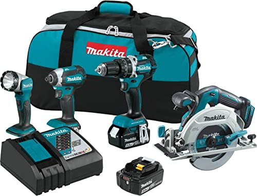 Makita XT446T 18V LXT Lithium-Ion Brushless Cordless Combo Kit 4 Piece