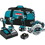 Makita XT446T 18V LXT Lithium-Ion Brushless Cordless Combo Kit (4 Piece)