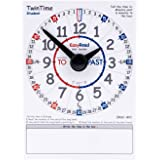 EasyRead Time Teacher TwinTime Double-Sided Learn The Time Student Card #ERSC-WO