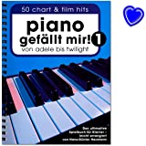 Piano gefällt mir! Band 1 Spiralbindung - 50 Chart und Film Hits von Adele bis Twilight. Das ultimative Spielbuch für Klavier - arrangiert von Hans-Günter Heumann - Notenbuch mit bunter herzförmiger Notenklammer - BOE7788 - 9783865438911