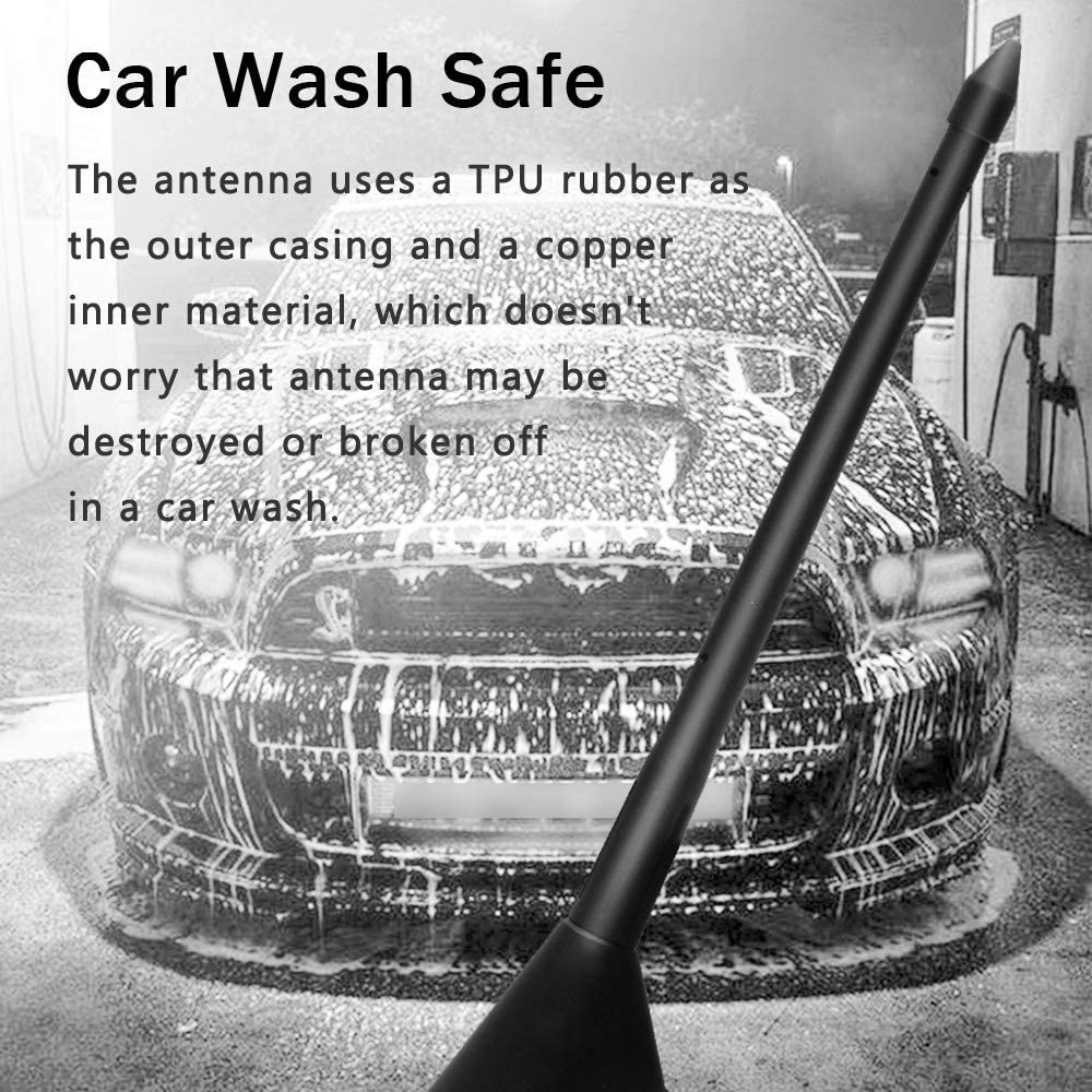 KSaAuto 8 Inches Car Wash Proof Antenna Fits for VW Nissan Designed for Optimized FM//AM Reception