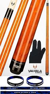 product image for Valhalla by Viking VA109 Autumn Orange 2 Piece Pool Cue Stick No Wrap 18-21 oz. Plus Billiard Glove & Bracelet