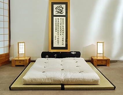Futon On Line Combinación 2 Tatamis (80x200x5,5cm) futón algodón (140x200x14cm)