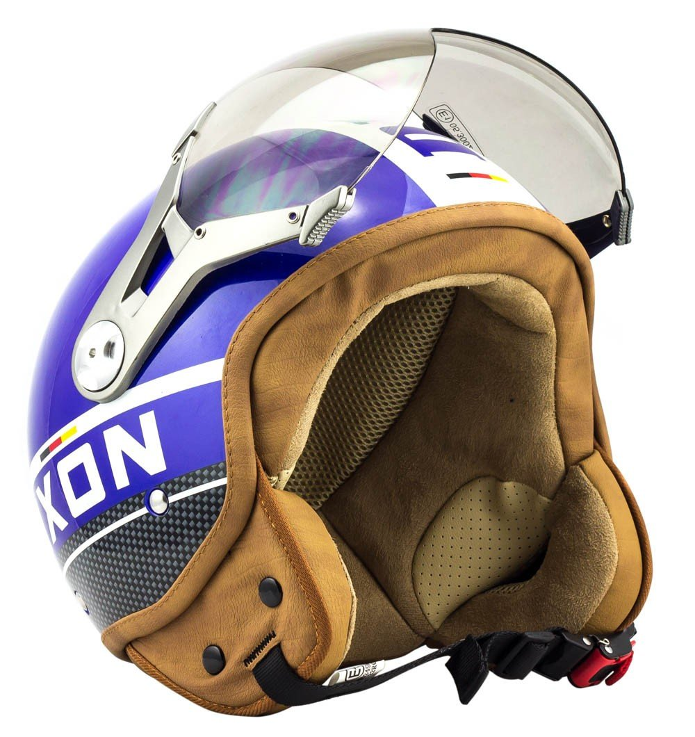 SOXON SP-325-PLUS Army · Biker Helmet Vintage Vespa-Helm Cruiser Scooter-Helm Bobber Motorrad-Helm Retro Mofa Chopper Jet-Helm Roller-Helm Pilot · ECE zertifiziert · inkl. Sonnenvisier · inkl. Stofftragetasche · Grün