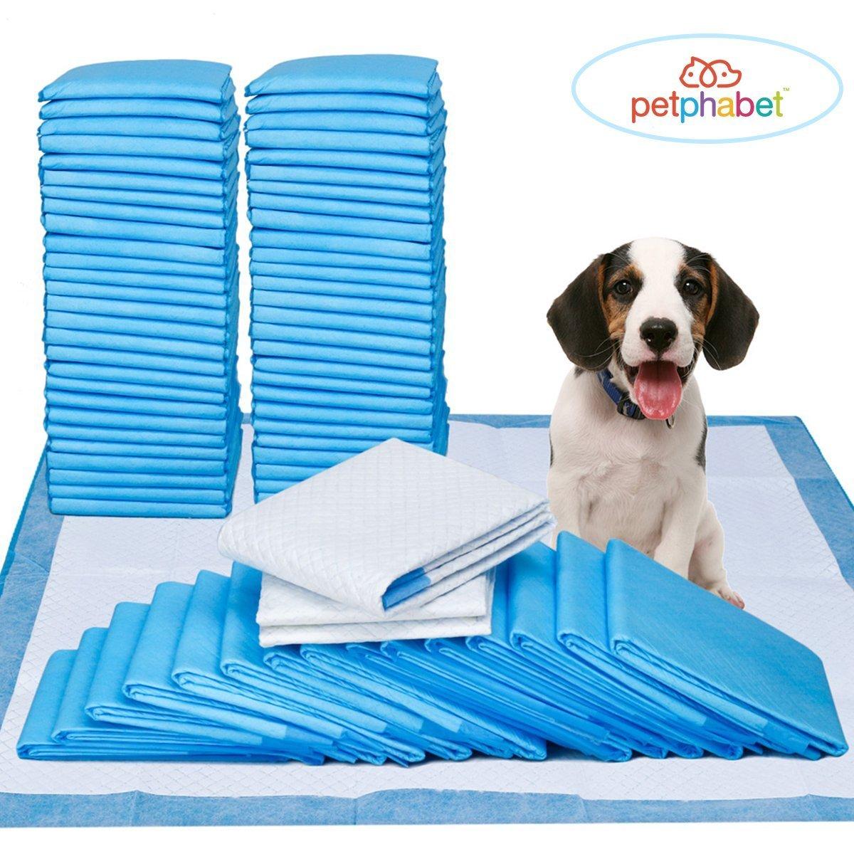 Tapis Educateurs Pour Chien Petphabet Puppy Pads 60x58cm 100 Pièces Super Absorbant