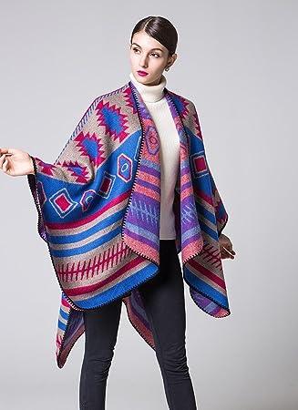 Frauen Mode Nepal Stil geometrischen Mustern Oversized verdickte ...