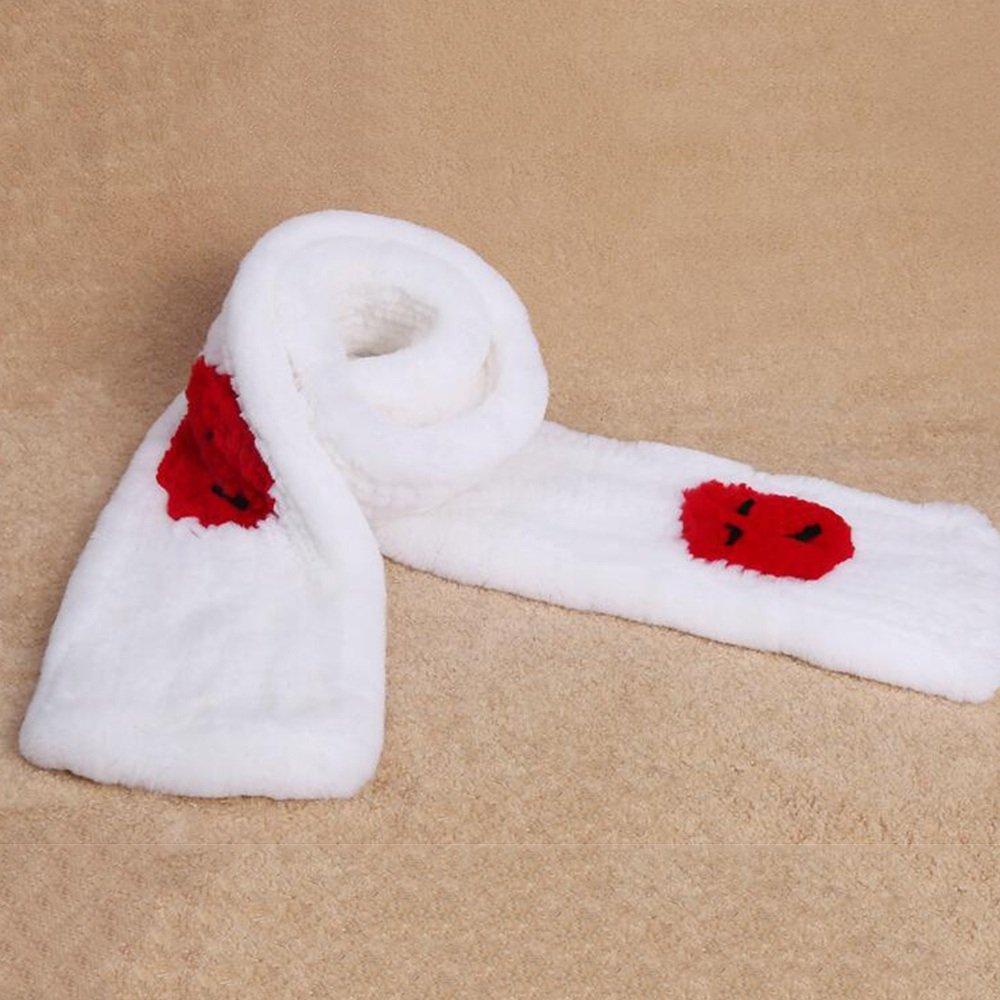 MEIDUO Sciarpe calde delle sciarpe delle donne allunga l'inverno con 3 colori 180 * 20CM ( Colore : White-Red )