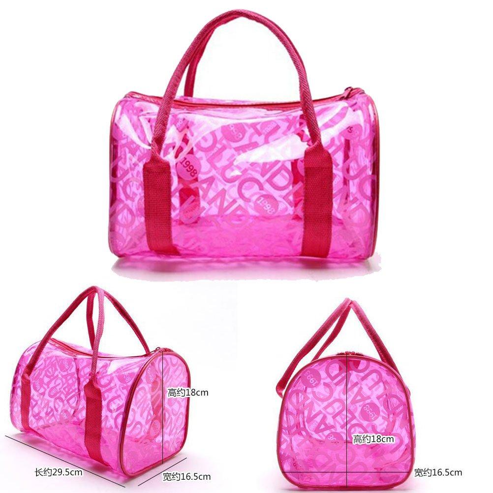Donalworld Women Summer Clear Beach Candy Waterproof Handbag Pillow Bag Lpink by Donalworld (Image #3)