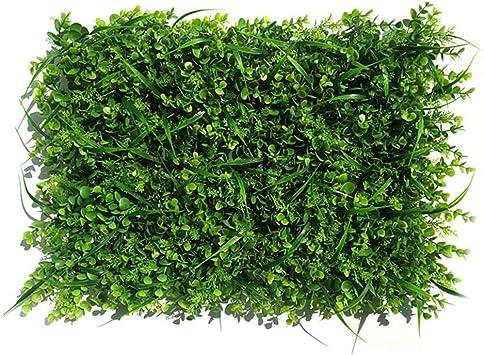 seto artificial faux greenery privacidad pantallas - verde seto telón de fondo plástico jardín falsa valla mat panel enrejado decoración de pared: Amazon.es: Bricolaje y herramientas