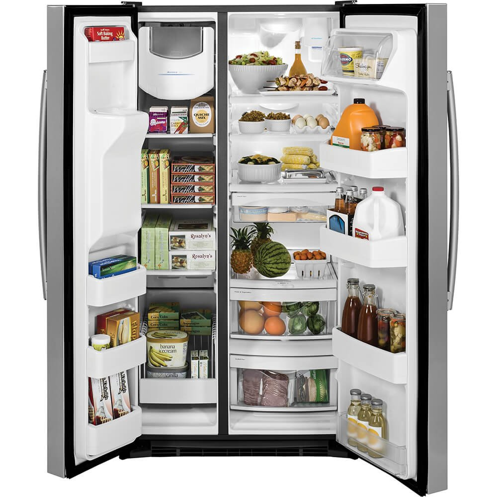 Ge 254 Cubic Feet Side By Refrirator Stainless Refrigerator Model 25 Schematic Steel Appliances