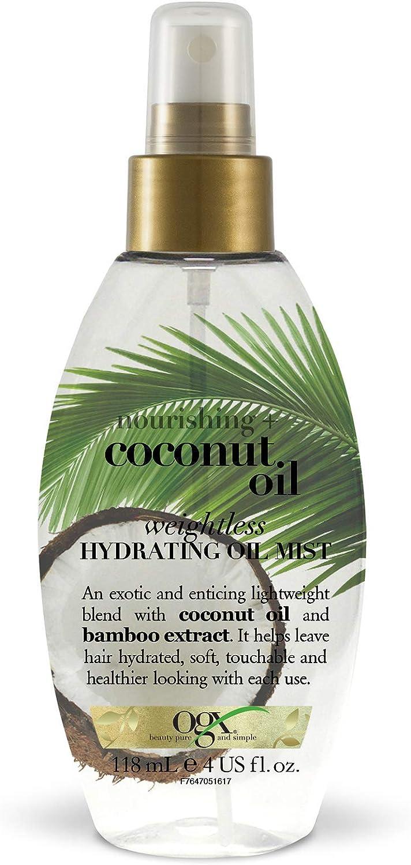 OGX Leche de Coco, aceite hidratante ligero en spray - 118 ml