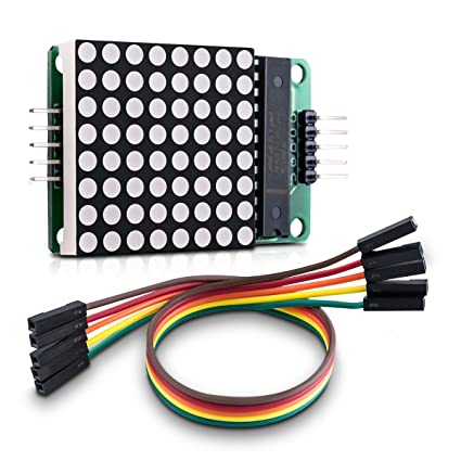 kwmobile MAX7219 Dot Matrix Module - Red LED Matrix Display Module Control  DIY Kit for Arduino and Raspberry Pi 8x8