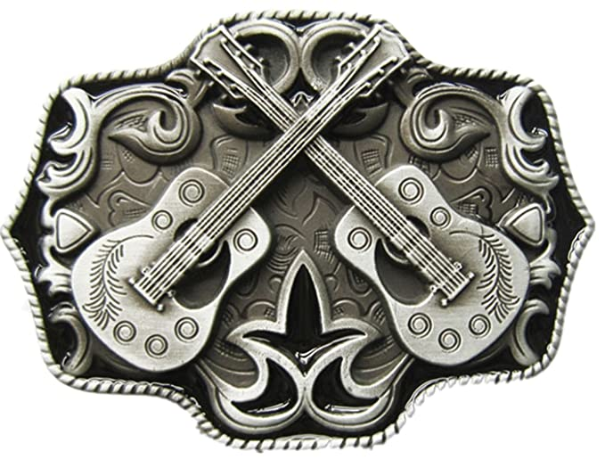 New Vintage Western Country Cross Guitar Music Belt Buckle (With Enamel) 7658086abad
