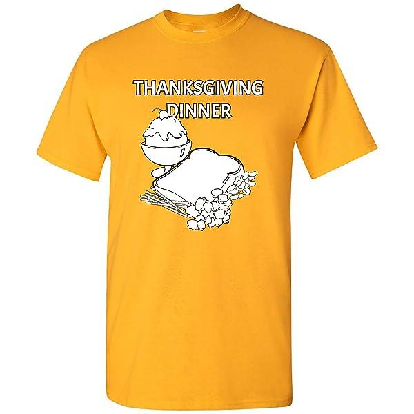 Thanksgiving Dinner Funny Cartoon Thankful Turkey T Shirt