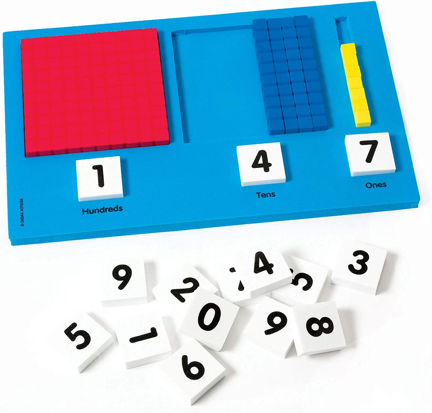 Pack of 25 hand2mind Paper Base Ten Place Value Mat Demonstrate Number Concepts /& Regrouping