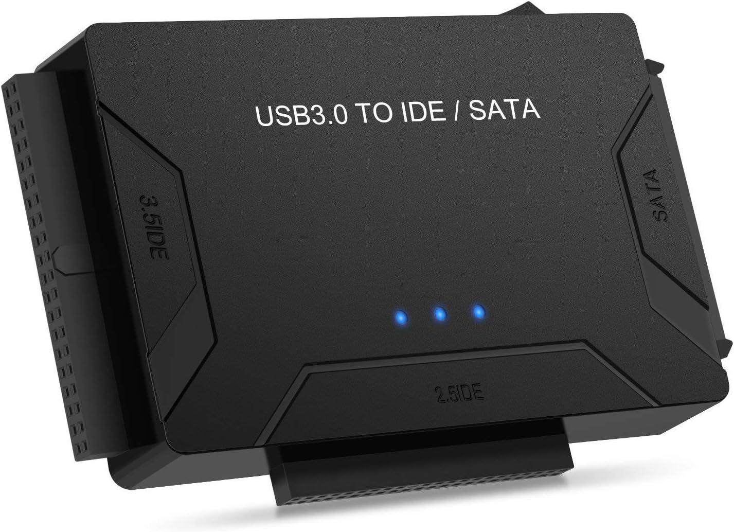 POSUGEAR Adaptador de USB 3.0 a IDE y SATA Adaptador para 2.5 y ...
