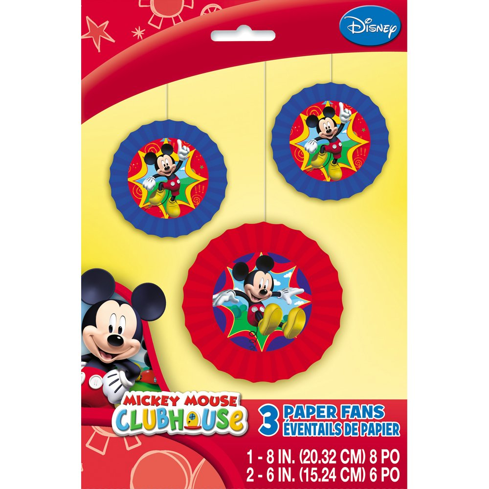Amazon.com: Mickey Mouse Clubhouse Paper Fan Decorations, 3ct: Toys ...