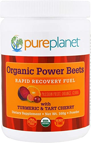 Pure Planet Organic Power Beets Rapid Recovery Fuel Passion Fruit Orange Guava 160 g