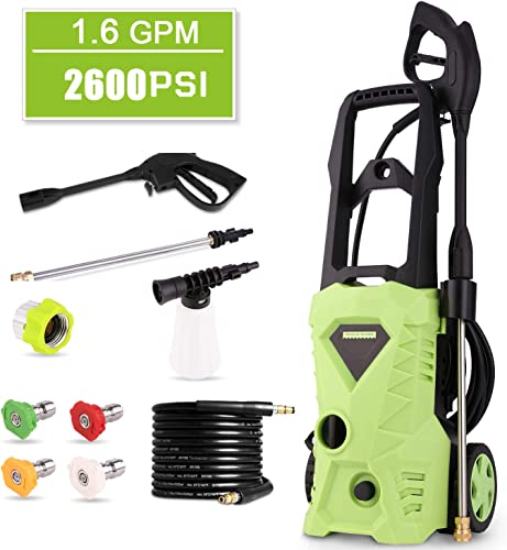 Homdox 2600 PSI Electric Pressure Washer 1600W Power Washer 1.6GPM High Pressure Washer