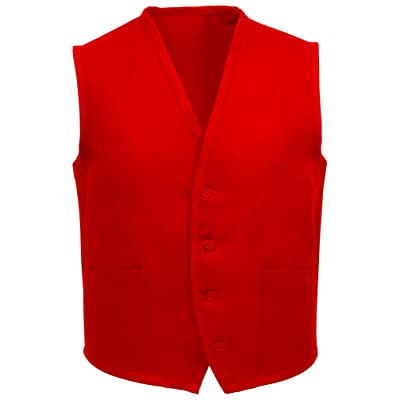 Fame Unisex 2 Pocket Vest (Red - Small) V65-23305 at Amazon Men's Clothing store: Chefs Jackets