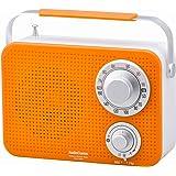 AudioComm AM/FM キッチンシャワーラジオ オレンジ [品番]07-8611 RAD-T380N-D
