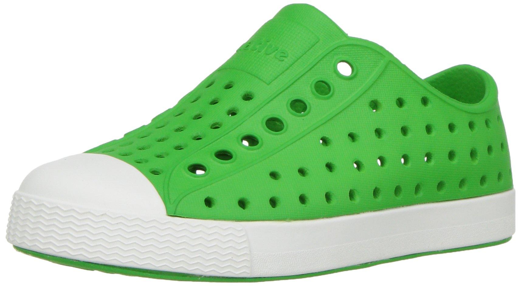 Native Kids Unisex-baby Jefferson Water Proof Shoes, Grasshopper Green/Shell White, 5 Medium US Toddler