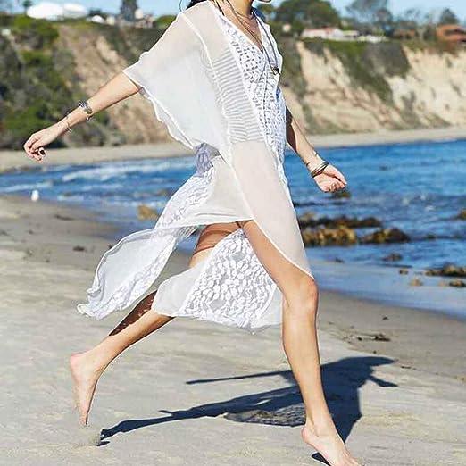 ... moda playa 2018,Sonnena Blusa para mujer con estampado de flores Blusa traje de baño Beach Bikini Tops Smock Tops playa citas fiesta: Amazon.es: Hogar