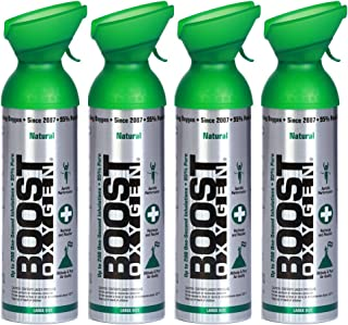 product image for New and Larger, Boost Oxygen Natural Energy in a Can, New Large Size: 10 Liters over 200 One-Second Inhalations, Pack of 4