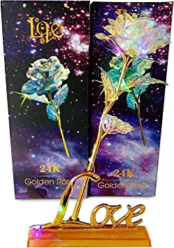 Amazon.com: LY EMMET - Rosas artificiales de oro rosa de ...