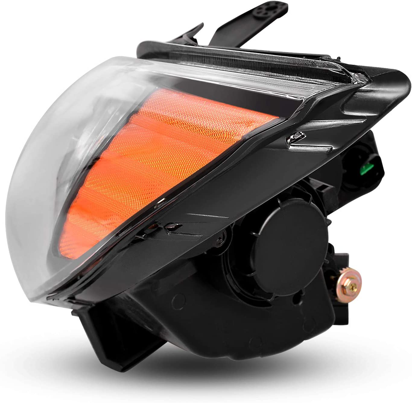 AUTOSAVER88 Headlight Assembly Compatible with Sonata 2011-2014 EXCLUDING Hybrid Black Housing