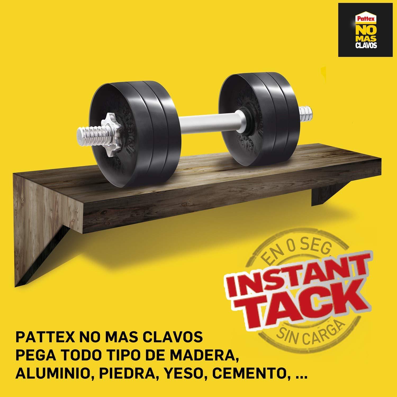 Pattex No Más Clavos Original, adhesivo de montaje resistente, pegamento extrafuerte para madera, metal y más, adhesivo blanco instantáneo, 1 tubo x ...