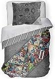 Jay Franco Marvel Comics 80th Anniversary Full/Queen Comforter & Sham Set - Super Soft Kids Reversible Bedding - Fade…