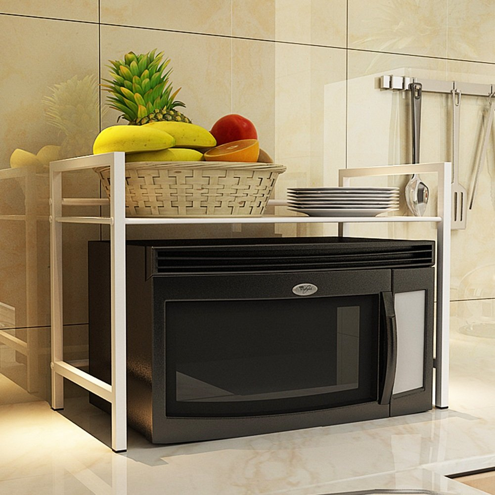 Microwave Oven Rack Storage Shelves Kitchen Seasoning Rack 3 Colors, 3