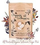Memoir Organic Silkworm Finger Rub - Facial Cleanser, Blackhead & Acne Scar Removal, Anti-Aging, Wrinkle Removal Beauty Scrub. Use daily to achieve Healthy Glowing Skin