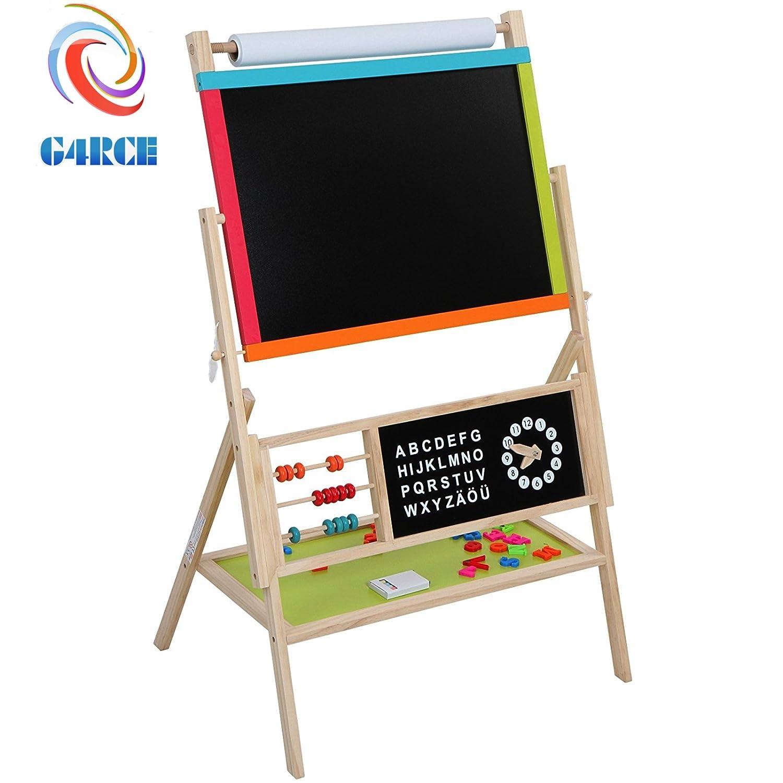 G4RCE Children's 3 in1 Multifunctional Board Blackboard Easel Magnetic Board Whiteboard with Accessories