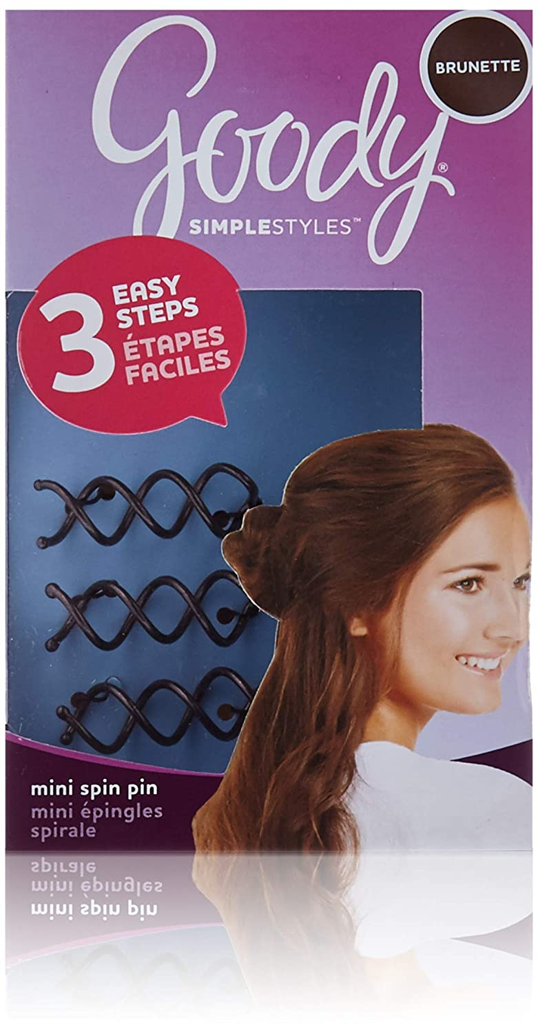 Goody Simple Styles Spin Pin Assorted Colors Dark Or Light Hair 2 Count