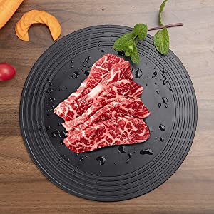 HOMBYS Defrosting tray,Thawing Plate,Rapid for Fast Defrosting Frozen Meat Food At the same time can also be used as a pots heat conduction plate (11.2 Inches)