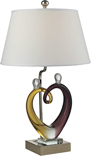 Dale Tiffany AC15043 Hearts Sculpture Table Lamp Set