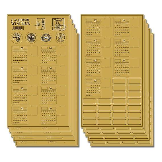 Amazon.com : 2019 Calendar Stickers for Bullet Journal ...