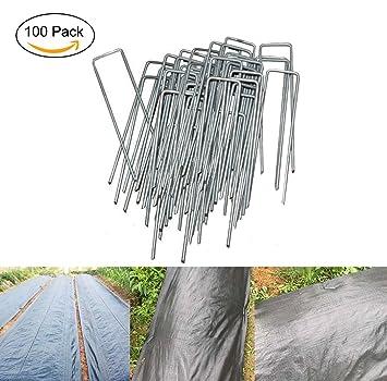 MJS® Lote de 100Pcs piquetas de fijación de jardín en forma de U 150 mm
