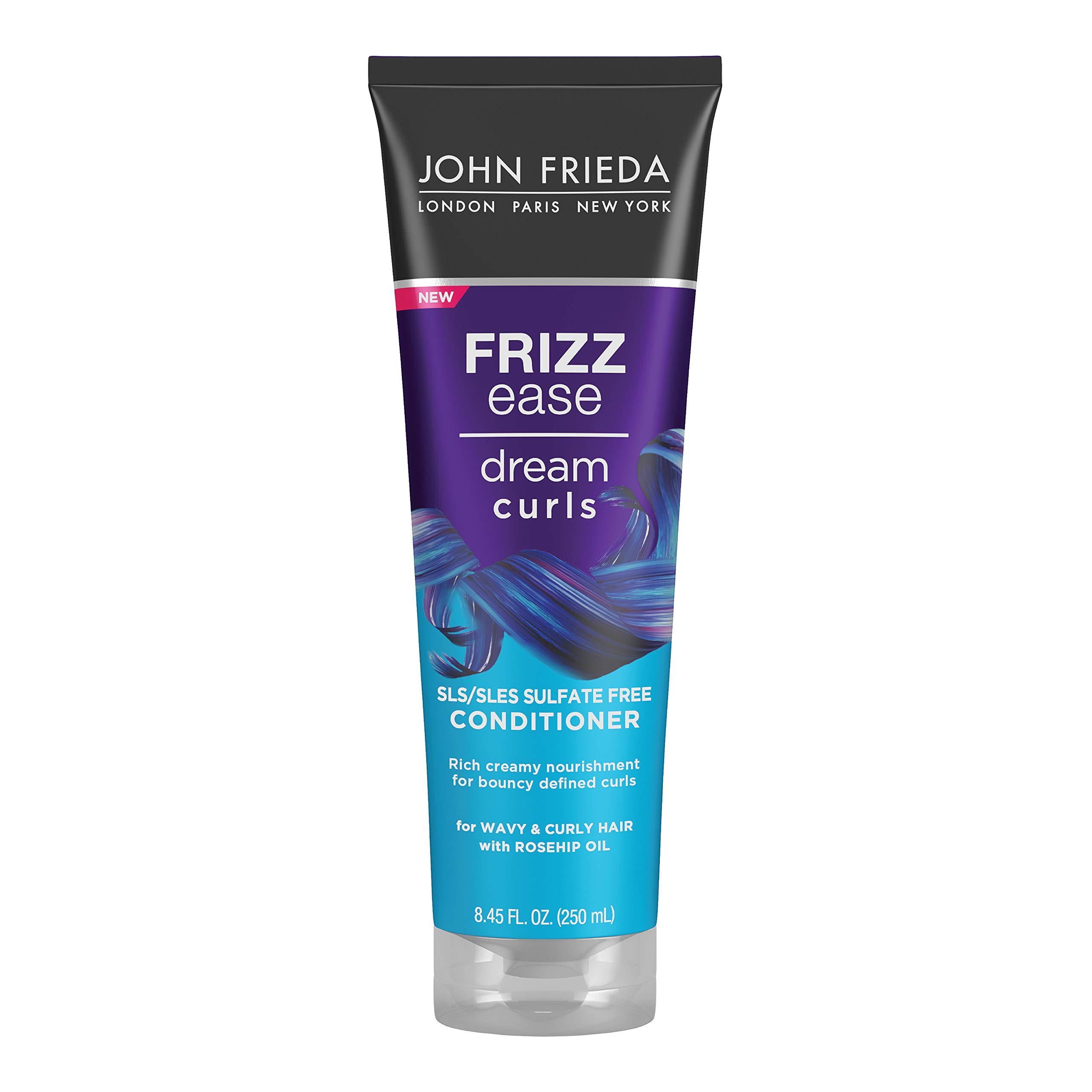 John Frieda Frizz Ease Dream Curls Conditioner, Hydrates and Defines Curly, Wavy Hair, Helps Control Frizz, SLS/SLES Sulfate Free, Enhances Natural Curls, 8.45 Fluid Ounces