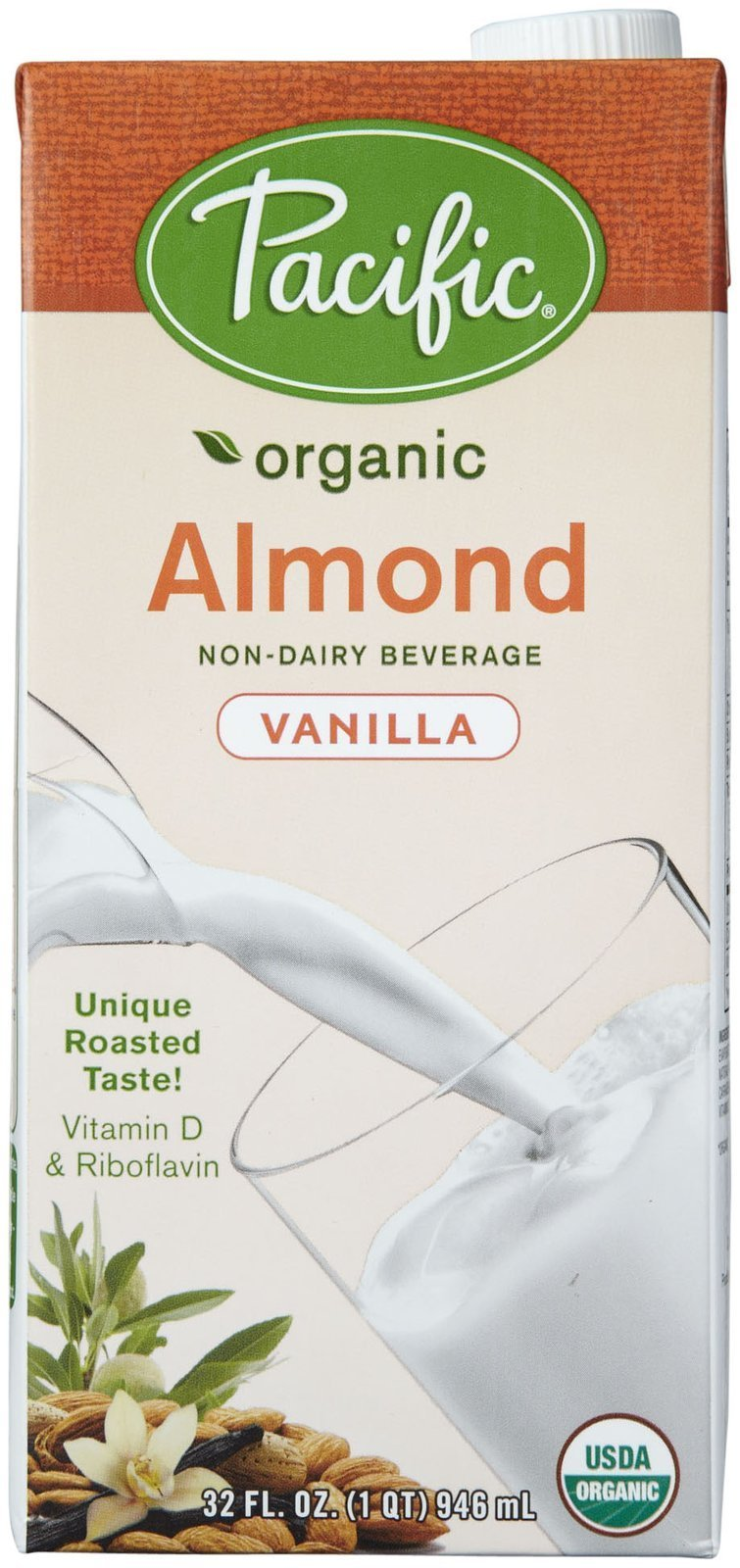 Pacific Natural Foods Organic Natural Almond Beverage - Vanilla - 32 oz