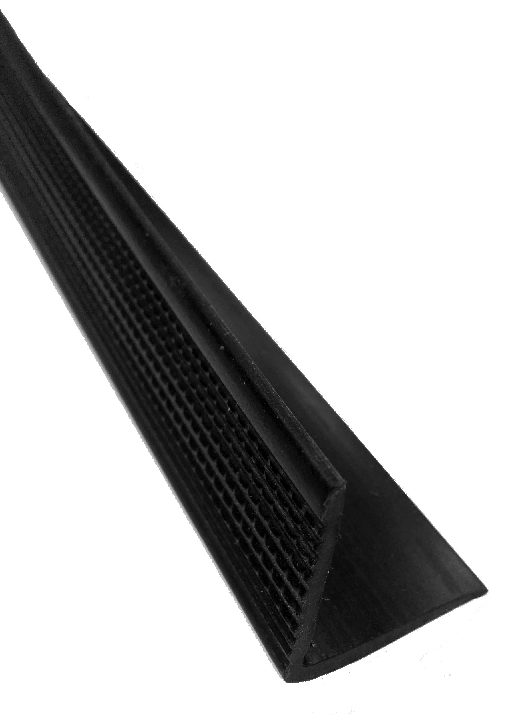 Herco 510 Thermoplastic Angle Extrusion 6 ft x 1-1/8 in x 1-1/4 in (Black)