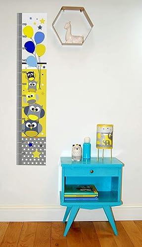 Toise, décoration murale pour chambre d\'enfant, thème hiboux ...