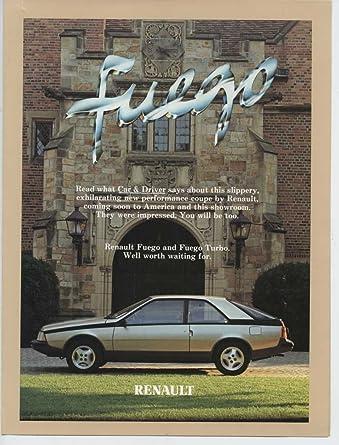 1982 Renault Fuego Roadtest Brochure