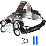 RENYANG LED ヘッドライト充電式 アウトドア ヘッドランプ 防水 SOS機能 4種モード 徒歩 登山 釣り 防災 停電時用 高輝度 作業灯