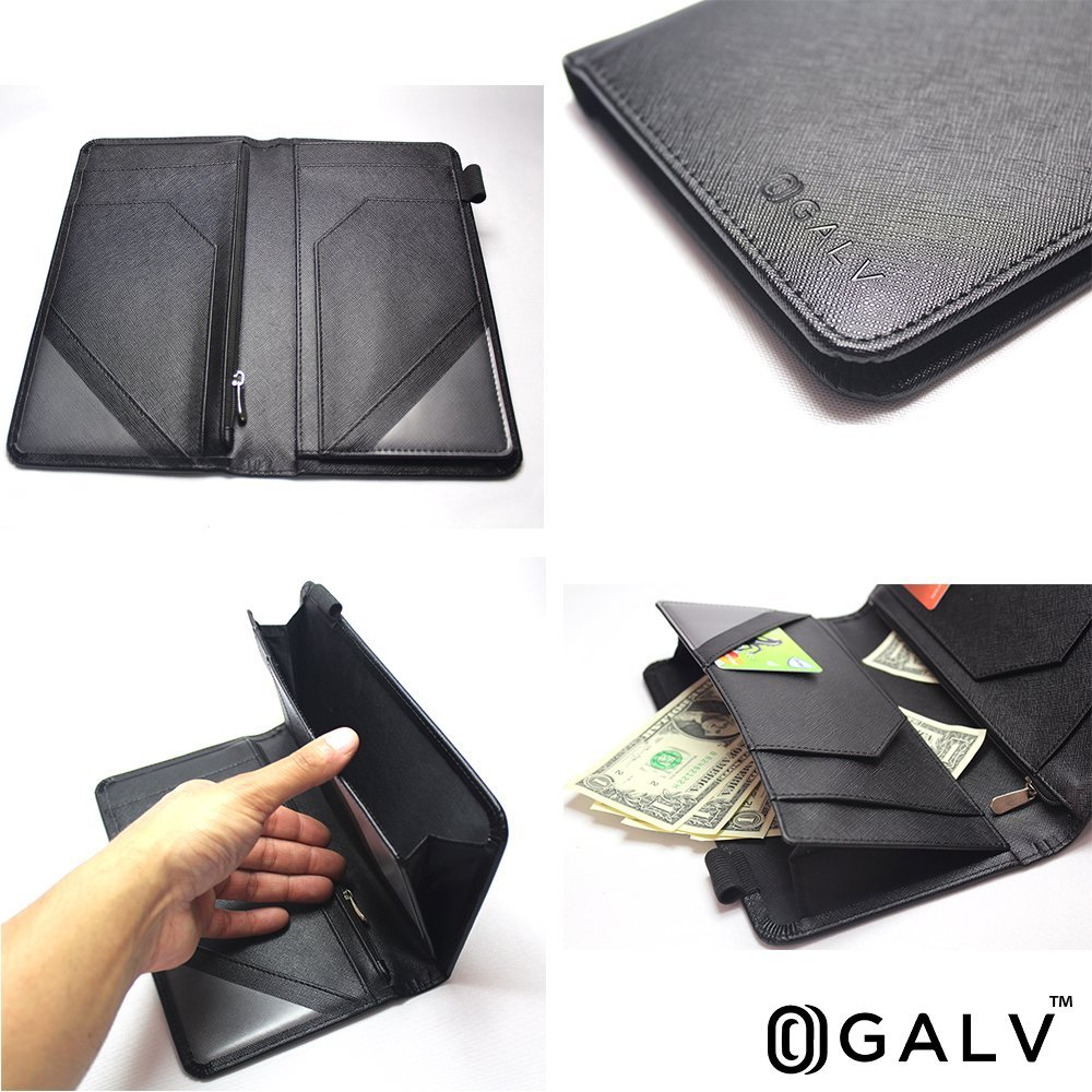 Waitress Waiter Server Book Organizer with Zipper Pocket Wallet for Waitstaff Black 5x9 and 12 Money Pockets with Pen Holder Fits Restaurant Guest Check Order Pad & Apron By Ogalv by Ogalv (Image #9)