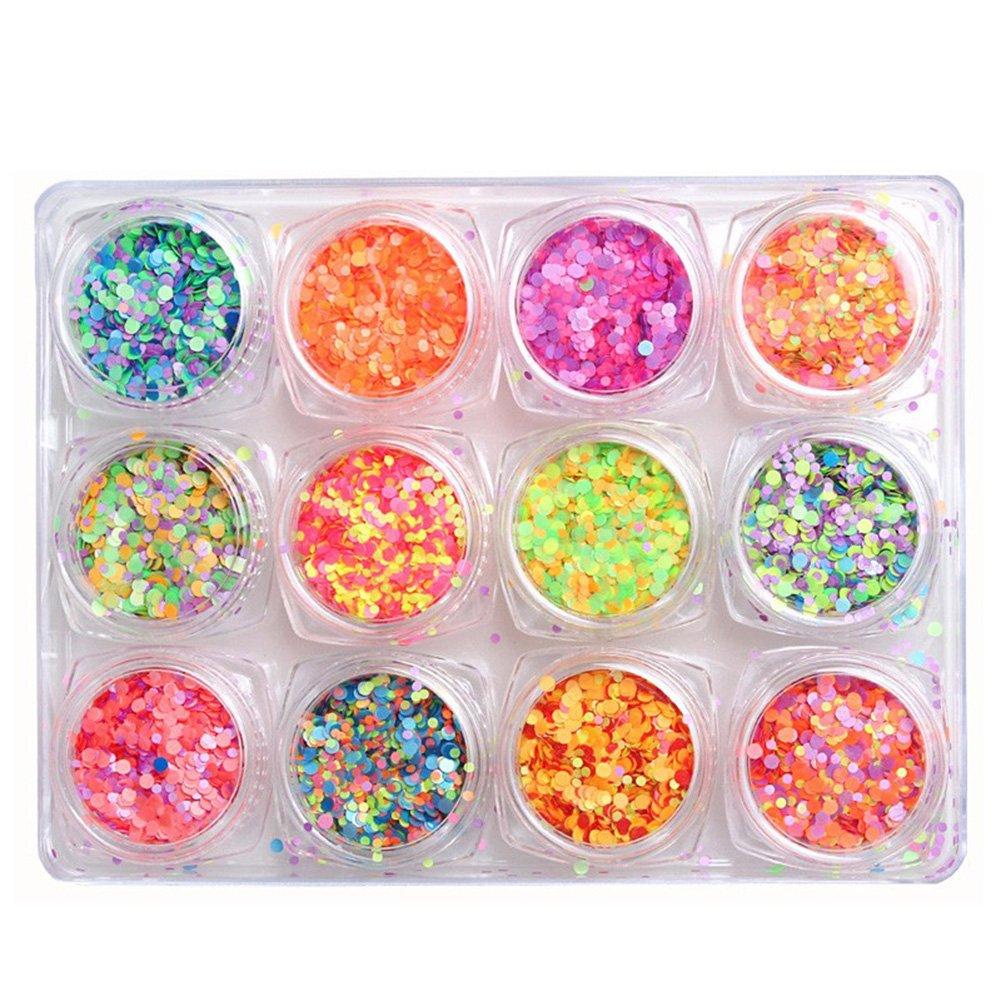 10g Sequin Circle Round Large Glitter Hand Craft NailArt Confetti Occasion Decor