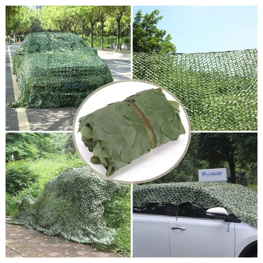 jard/ín ejercicios militares ,2x3m 6.6 red de camuflaje para acampar piscina Toldo de lona: aislamiento de malla de protecci/ón solar verde y ventilaci/ón de oscurecimiento tama/ño personalizable