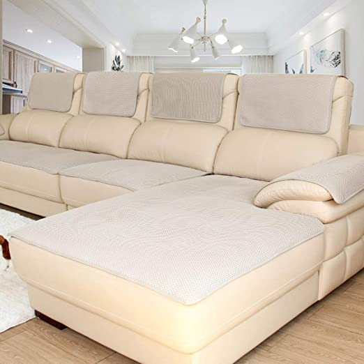 Lu Anti-Deslizante Funda de Sofá sofá de Cuero Verano ...